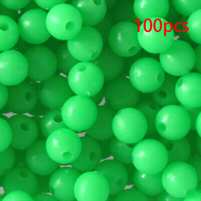 50 5MM ROUND FLUORESCENT CHR FISHING BULK BEADS TACKLE RIG HOOK BEAD FISH RIGS