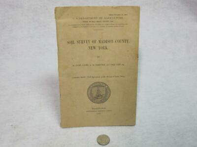 Soil Survey of Madison County NY 1907 with Colored Map