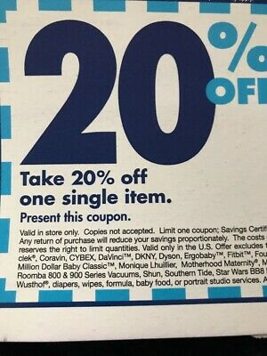 Three (3) Bed Bath & Beyond Coupons for 20% Off of One Item