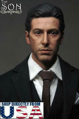 "1/6 The Godfather Al Pacino Head Sculpt Michael Corleone For 12"" Hot Toys Figure"
