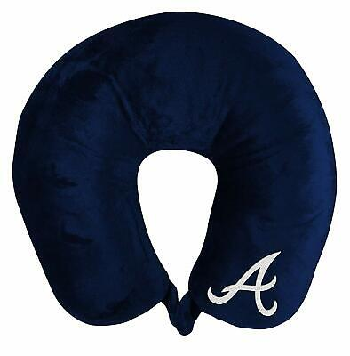 Atlanta Braves Applique Travel Neck Pillow Team Logo Color Snap Closure Mlb Trip