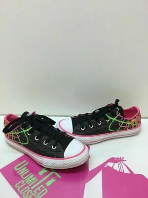 7582dd3a9099 Converse All Star Multi-Color Canvas With Quotes Low Top Shoes Girls Size 2