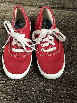 0fbaad0f710c5 Keds Kids Red White Original Champion CVO Canvas Sneakers Girl s Size ...