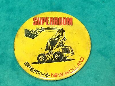 New holland superboom sperry pin badge