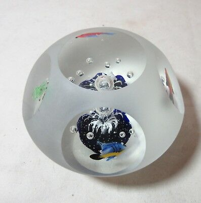 hand blown solid art frosted glass figural jelly fish tank aquarium paperweight