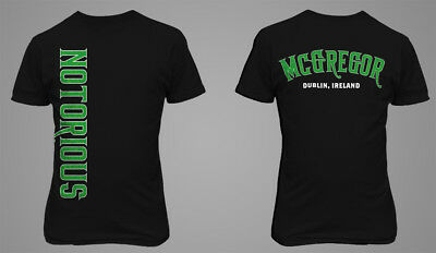 Conor McGregor The Notorious UFC MMA Fighter Men T-shirt Ideal Gift