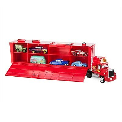 Mack Friction Motor Hauler Truck Plus Six Pullback Cars Set