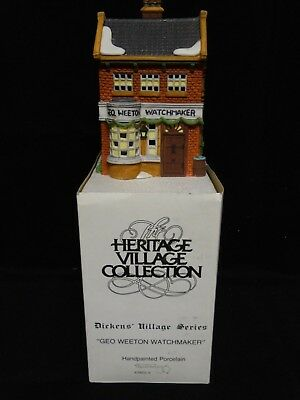 Department 56 Lighted Building ~ Dickens Village ~ GEO WEETON WATCHMAKER ~ 59269