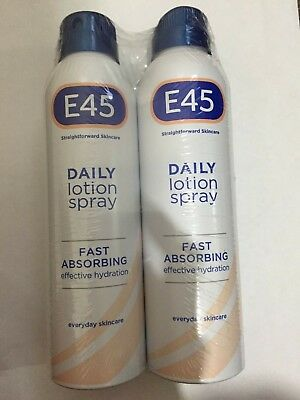 E45 Daily Lotion Spray 2 x 200ml Pack - FREE POSTAGE