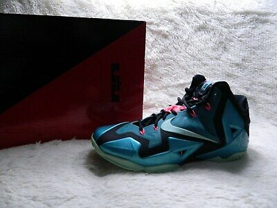 online retailer 4523b 58920 Nike Lebron XI 11 South Beach Mens Size 10.5 Teal Pink Black Basketball  FREE S H