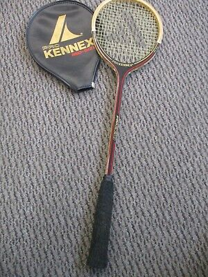 Squash Racket with Zip Cover Vintage Wooden Frame, Pro Kennex Pro 220, Mid Size