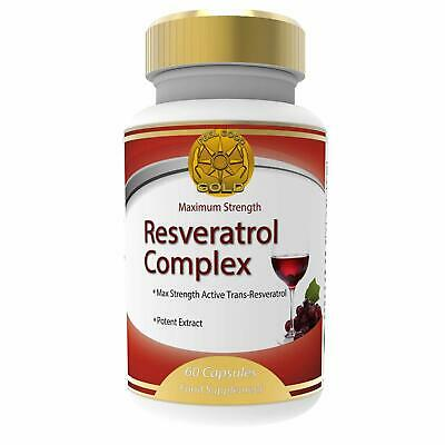 Pure Resveratrol Max Strength 150mg - 60 Vegan Capsules with Trans-Resveratrol