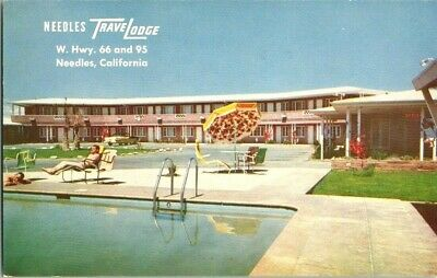 1960'S. NEEDLES TRAVEL LODGE. ROUTE 66. NEEDLES CA POSTCARD r16