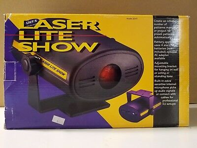 Multi Media Elect. Red Laser Beam Light Show Sound Activated Lite F/X MODEL 2001