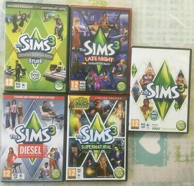 The Sims 3 Expansions Pack PHYSICAL Copy PC CD-ROM Bundle - Pick Your Video Game