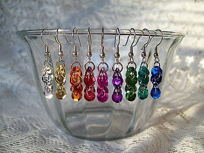 PICK A PAIR of Sequin Earrings Yellow, Orange, Red, Pink, Purple, Green, Blue