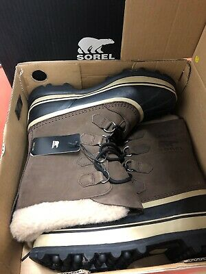 Sorel Men's Size10 Boots Caribou Bruno(Brown) 1026541 Waterproof Impermeable NIB