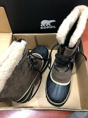 Sorel Men's Size 9 Boots Caribou Bruno(Brown) 1026539 Waterproof Impermeable NIB