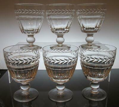 "Set of Six (6) Stuart Crystal ""ARUNDEL""  Water Glasses 4 7/8"" (125mm)"
