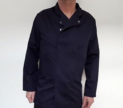 Service / Chef jacket navy blue long sleeve polly cotton size XS