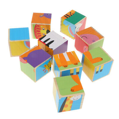 DIY Educational Toys 3D Jigsaw Puzzle Toy Wooden for Toddlers Kid Children
