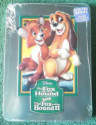 Disney's The Fox & The Hound I & II DVD & Blu-ray in Collectible Tin (NEW)