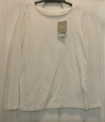 New Next girls long sleeve Top Ivory 7 years