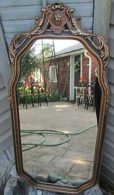 Beautiful Ornate Genevieve Gold BLACK Wooden Mirror GESSO