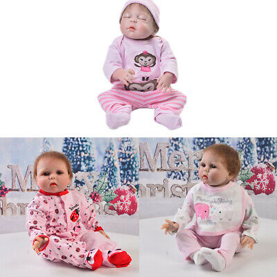 3 Sets Adorable Newborn Doll Clothes for 22-23inch Reborn Girl Doll Accs