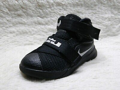 reputable site fb052 6bc79 Nike Lebron Soldier IX 9 Toddler Boys Size 7C Black Silver Basketball FREE  S H