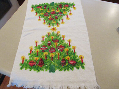 Vintage French1900/'s terry cloth 1 toweling towels French F hand face white ONE