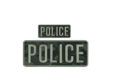 MIAMI GARDENS POLICE embroidery patches 6X11 and 4X6 HOOK on back blk//gray