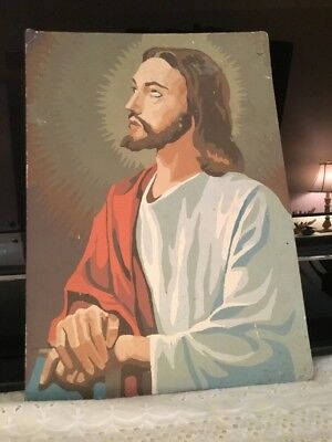 "Vintage Jesus Portrait Picture Paint by Numbers 14""  x 10"""