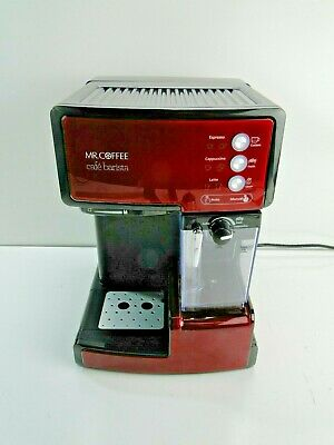 Mr. Coffee Cafe Barista Espresso and Cappuccino Maker Red BVMC-ECMP1106