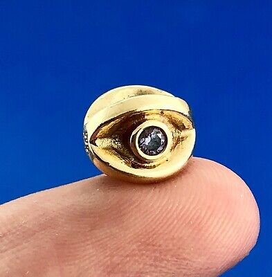 Authentic Pandora 14K Yellow Gold Twinkling Eye CZ Retired Charm 750215ACZ Rare