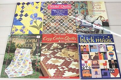 Lot 6 How To Books Quilting Patterns Quilt Making Guide Block Nickel Log Cabin