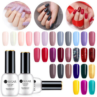 UR SUGAR 15ml Soak off Nail UV Gel Polish Nail Art Gel Varnish No Wipe Top Coat
