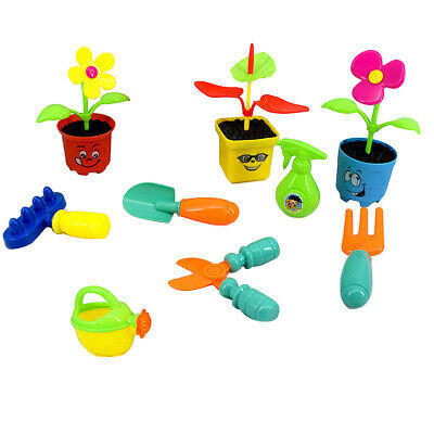 9Pcs Kids Pretend Role Play Toy Set Garden Tools for Toddlers Kids Presents