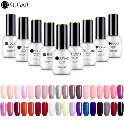 UR SUGAR 15ml Nail UV Gel Polish Soak off Nail Art Gel No Wipe Top Base Coat