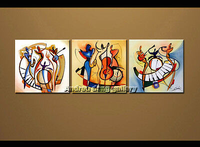 Large Modern Abstract oil painting Alfred Gockel Repro on Canvas Wall Art A1516