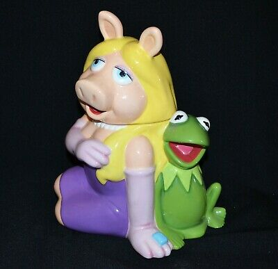 The Muppets Miss Piggy And Kermit Cookie Jar 2005