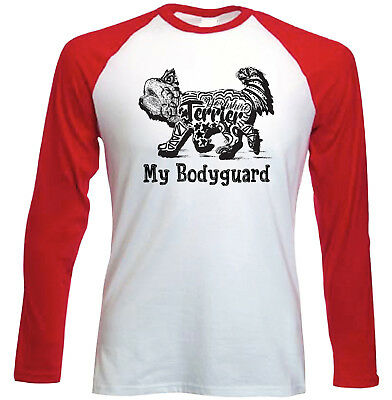 Yorkshire terrier 2 my bodyguard b - NEW RED LONG SLEEVES COTTON TSHIRT
