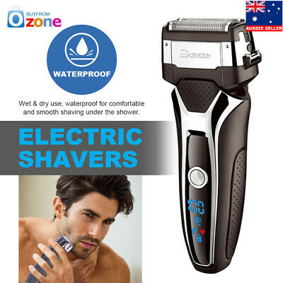 Waterproof Cordless Electric Rechargeable Mens Foil Shaver Trimmer Wet Dry Razor