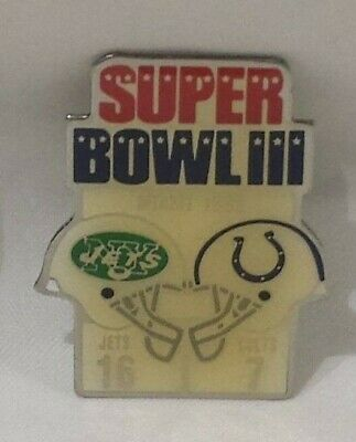 2 x Vintage Baltimore Colts Super Bowl III & V Diet Coke Pin (s) Cowboys & Jets