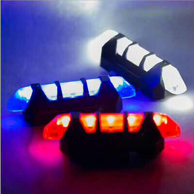 USB Rechargeable Bike Rear Tail Light LED Bicycle Warning Safety Smart Lamp