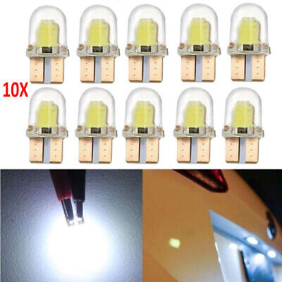 10x LED T10 8SMD CANBUS 194 168 W5W COB Silica Bright White License Light Bulb