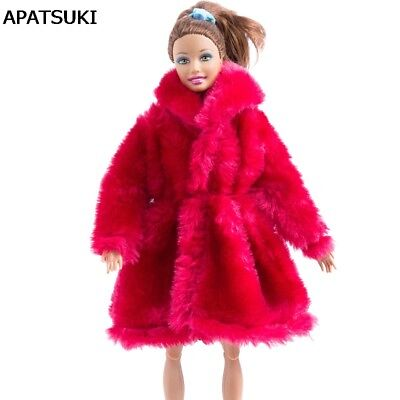 "Red Outfits Winter Wear Clothes For 1/6 Doll Coat Doll Dress For 11.5"" BJD Doll"
