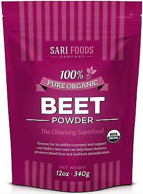 Organic Beet Powder (12 Ounce) Natural Plant Based Superfood: boost stamina, sup