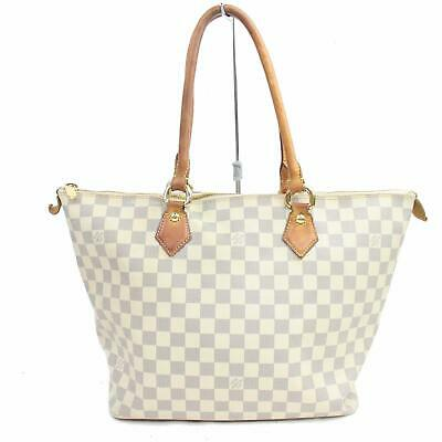 8d51ebf40803 Authentic Louis Vuitton Hand Bag SaleyaMM N51185 Whites Damier Azur 277770