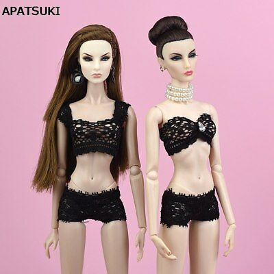 1Set Black Lace Underwear Bra & Brief For Blythe Doll 1/6 Knickers For 1/6 Dolls